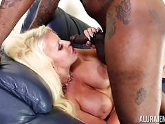 Big black dick penetrates hard into alura jenson