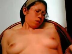 Japanese busty milf aki morishita dildo orgasm