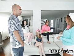 Horny daddy banging nanny club members