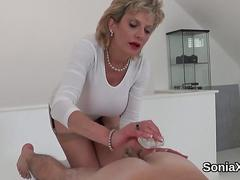 Unfaithful british mature gill ellis pops out her heavy boobs