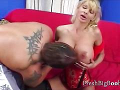 Mature busty blonde slut