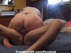 Amateur housewife gets her ass fucked deep and hard