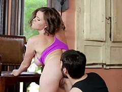 Yoga and hot sex with brunette babe krissy lynn