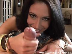 jessica jaymes, brunette, blowjob, cumshot, facial, deep throat, gag, sucking