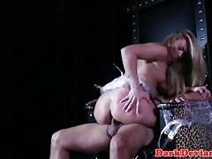 bdsm, boots, leather, fingering, cowgirl, fetish, deepthroat, choke, dominant, squirt, nipples