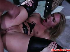 Kinky blonde fucked hard and rough