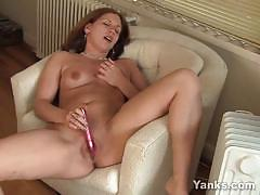 Amateur toys her warm pussy