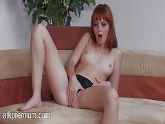 marie mccray, hot, masturbation, fingering, solo, redhead, orgasm, skinny, pale, red hair