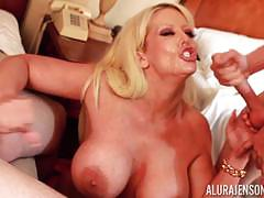 Sexy blonde babe alura jenson drilled by kinky guy