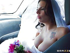 bride, big ass, babe, blowjob, big boobs, big dick, car sex, pussy rubbing, wedding dress, big butts like it big, brazzers network, lylith lavey, buddy hollywood
