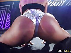 threesome, big ass, big tits, interracial, deepthroat, latina, booty shaking, big dick, brunette milfs, big butts like it big, brazzers network, diamond kitty, jmac, kelsi monroe
