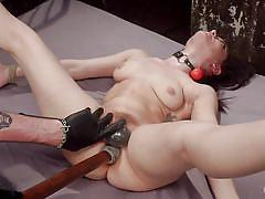 Naughty brunette gets hardcore punishment