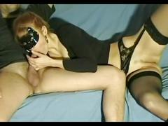 Masked woman great blow