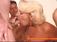 creampie, cum swallowing, cum in mouth, gangbang, grannies