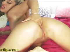 Blonde milf has some saggy tits and amazing ass