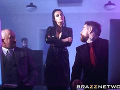 big boobs, blowjob, hardcore, threesome, fucking, group, lingerie, office, stockings