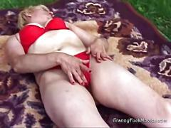 granny, masturbation, mature, blonde