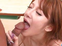 Mai shirosaki receives cock to play with at school