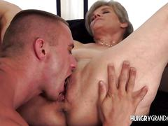 blowjob, granny, mature, blonde