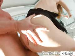 Ass traffic rough anal sex for russian redhead