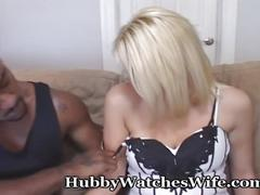 big dick, big tits, blonde, interracial, hubbywatcheswife, wife, cuckold, swinger, sharing, voyeur, toys, lingerie, doggy-style, missionary, cunnilingus, blowjob, bbc