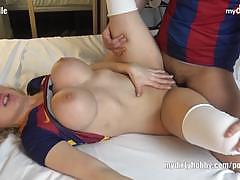 Hot blonde fucked from behind