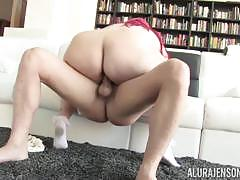Chubby pussy cramming trio with eliza allure and alura jenson