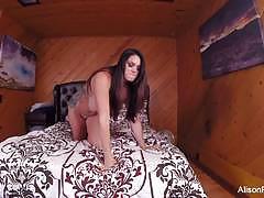 Luscious alison tyler toys her warm slot