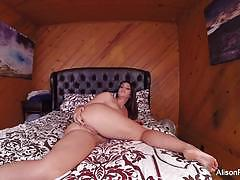 alison tyler, brunette, hardcore, big tits, busty, babe, masturbation, fingering, pornstar, solo, bed, big boobs, amateur, masturbate, masturbating