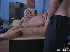 blonde, big tits, babe, deepthroat, office, big butt, pussy licking, big dick, at work, big tits at work, brazzers, harlow harrison, bill bailey