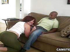 Dorky black bf got seduced by big ass latin gf