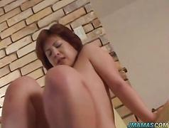 Megumi gets huge frigging after blowjob
