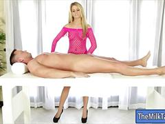 Blonde masseuse jessa rhodes blowjobs and cum facial