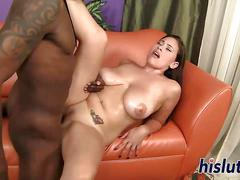 Stacked latina pleasures a big black cock