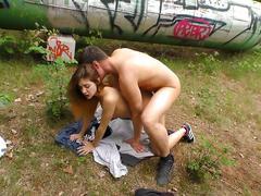 Deutschland report - deutscher porno im wald mit amateur parchen jason steel und lullu