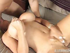 Blonde pussy slammed alura jenson by her gardener
