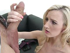 Photoshoot gets hot and spicy for tiny blonde skylar green