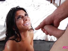 Busty romi rain pounded hard and given a facial