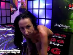 Tattooed brunette groped and fucked hard - german goo girls