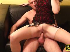 Spex slut fucking reversecowgirl