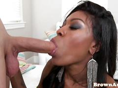 Brown booty babe dickriding reversecowgirl