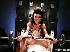 Romi rain lesbian workout fuck