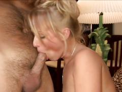 Gorgeous blonde fucking with her lover