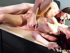 Sexy redhead monique alexander rides a huge cock