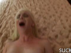 Shaved chick fucked from the rear in a cheap hotel