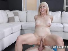 blonde, blowjob, mature, reality, pornstarplatinum, mother, old, mom, pornstar, workout, yoga-mat, erica-lauren, cum, oral, bj, pussy-licking, shaved-pussy, big-cock, riding, face-fuck