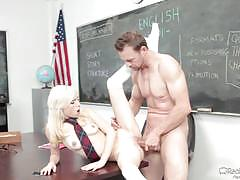 Piper perri gets a good slice of teacher dick