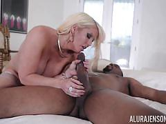 Big black cock rammed deep into beautiful milf alura jenson