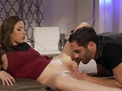 Casey calvert watched by chanel preston as she fucks