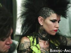 Punk sluts pussy railed